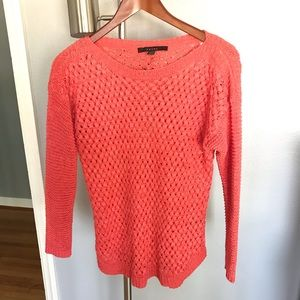 Fever coral crochet tunic really pretty! Like new!